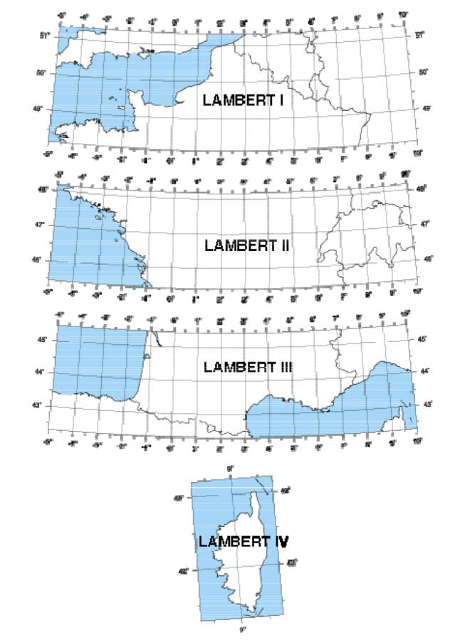 Zones Lambert