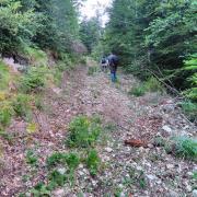tire sur le flanc nord-ouest du Roc de Resclause